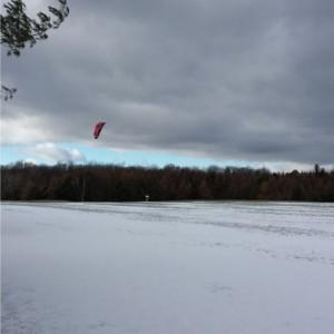 snow kiteboarding