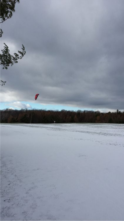 snow kiteboarding
